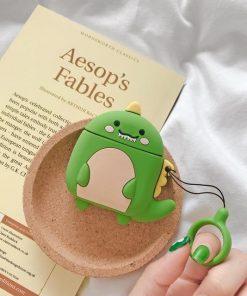 Cute Dinosaur Premium AirPods Case Shock Proof Cover