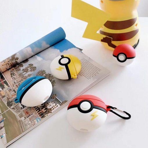 Pokemon 'Pikachu Pokeball' Premium AirPods Case Shock Proof Cover