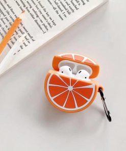Orange Premium AirPods Case Shock Proof Cover