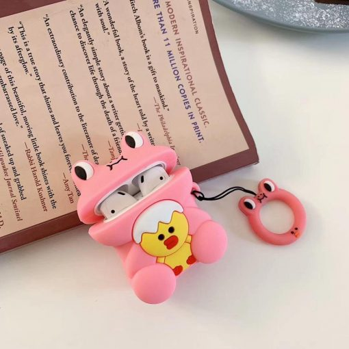 Cute Pink Frog Premium AirPods Case Shock Proof Cover
