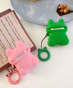 Cute Green Frog Premium AirPods Case Shock Proof Cover