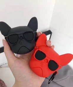 Bulldog 'Red' Premium AirPods Case Shock Proof Cover