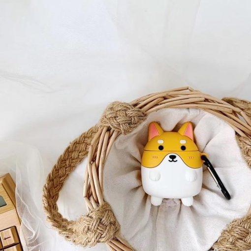 Cute Dog Blonde Corgi Premium AirPods Case Shock Proof Cover