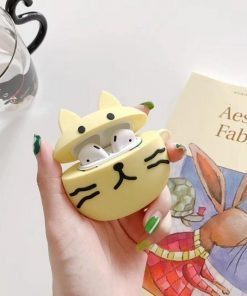 Cute Yellow Cat Premium AirPods Case Shock Proof Cover