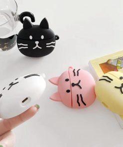 Cute Black Cat Premium AirPods Case Shock Proof Cover
