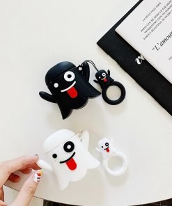 Cute Ghost 'White' Premium AirPods Case Shock Proof Cover