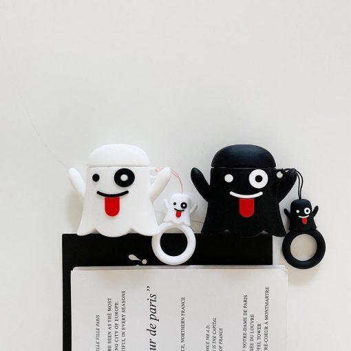 Cute Ghost 'Black' Premium AirPods Case Shock Proof Cover