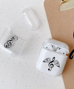 Music Stand and G Clef Clear AirPods Case Shock Proof Cover