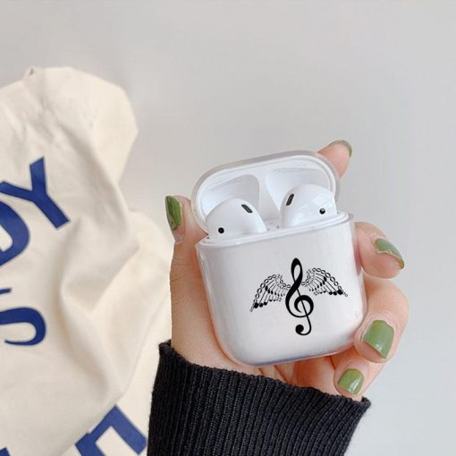 G Clef with Wings Clear AirPods Case Shock Proof Cover
