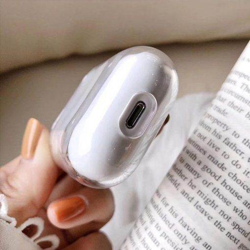 Musical Notes Clear AirPods Case Shock Proof Cover