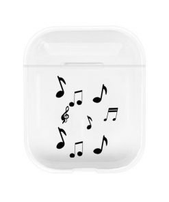 Floating Notes Clear AirPods Case Shock Proof Cover
