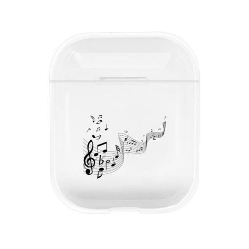 Floating Wind Musical Notes Clear AirPods Case Shock Proof Cover
