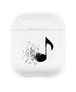 Eighth Note Fading Clear AirPods Case Shock Proof Cover