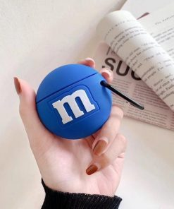 M&M's 'Blue' Premium AirPods Case Shock Proof Cover