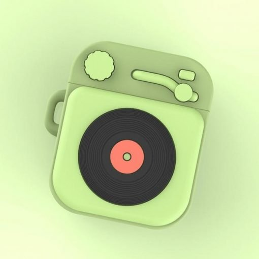 Classic Record Player 'Green' Premium AirPods Case