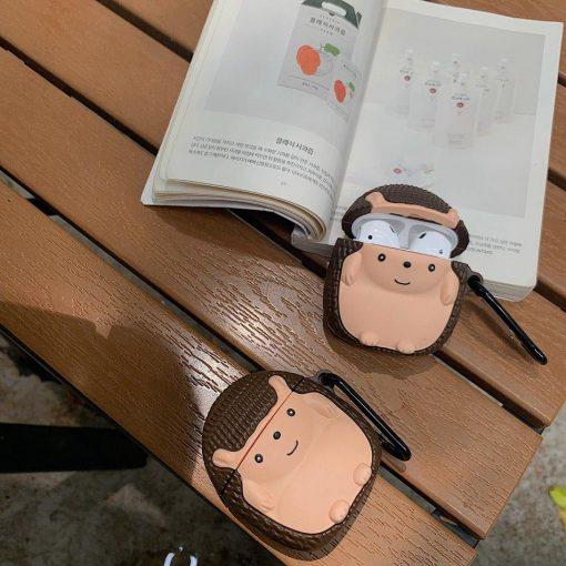 Cute Hedgehog Premium AirPods Case Shock Proof Cover