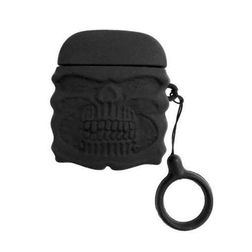 Cute Black Skull Premium AirPods Case Shock Proof Cover