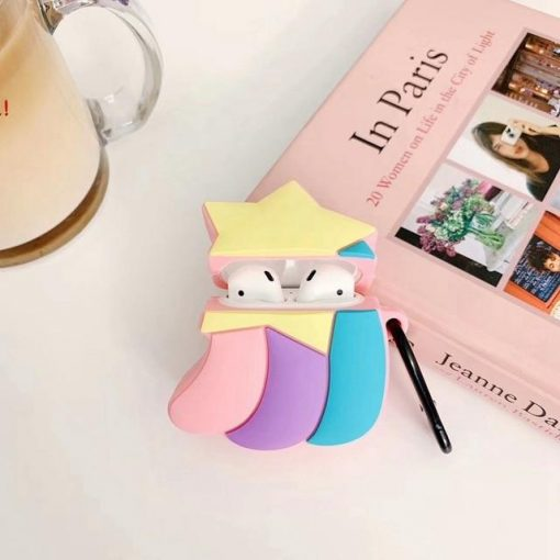 Cute Rainbow Shooting Star Premium AirPods Case Shock Proof Cover