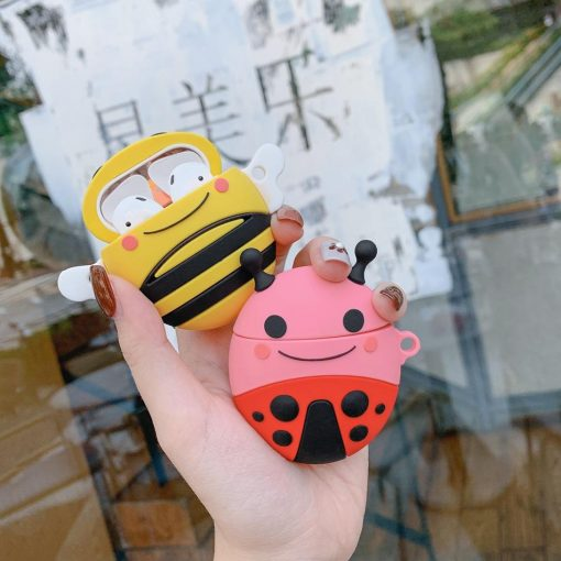 Happy Ladybug Premium AirPods Case Shock Proof Cover