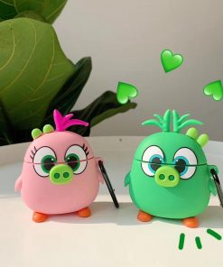 Angry Birds 'Cute Green Pig' Premium AirPods Case Shock Proof Cover