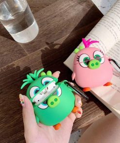 Angry Birds 'Cute Pink Pig' Premium AirPods Case Shock Proof Cover