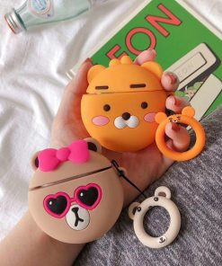 Bear with Heart Glasses Premium AirPods Case Shock Proof Cover