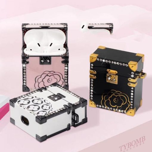 Luxury Pink Chest Premium AirPods Case Shock Proof Cover