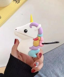 Rainbow Unicorn with Gold Horn Premium AirPods Case Shock Proof Cover