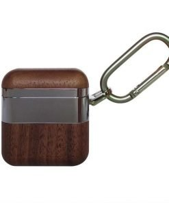 Stainless Steel and Wood Premium AirPods Case Shock Proof Cover