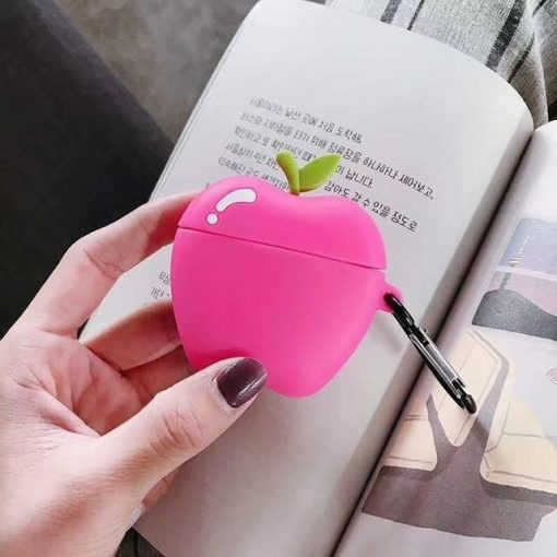Pink Apple Premium AirPods Case Shock Proof Cover