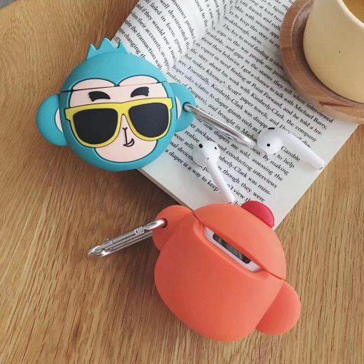 Cute Orange Monkey with Sunglasses Premium AirPods Case Shock Proof Cover