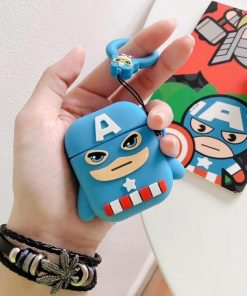 Captain America 'Ready for Action' Premium AirPods Case Shock Proof Cover