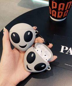 Cute Happy Alien 'Glow in the Dark   Area 51' Premium AirPods Case Shock Proof Cover