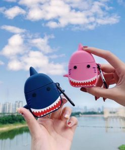 Angry Shark 'Pink Premium AirPods Case Shock Proof Cover