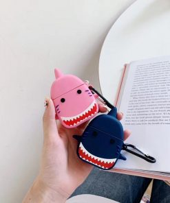 Angry Shark 'Navy' Premium AirPods Case Shock Proof Cover