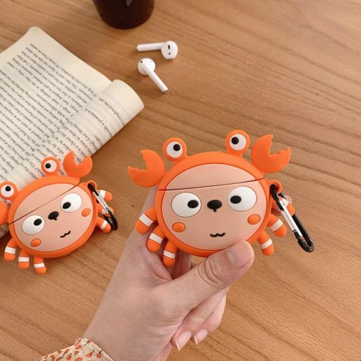 Cute Crab Premium AirPods Case Shock Proof Cover
