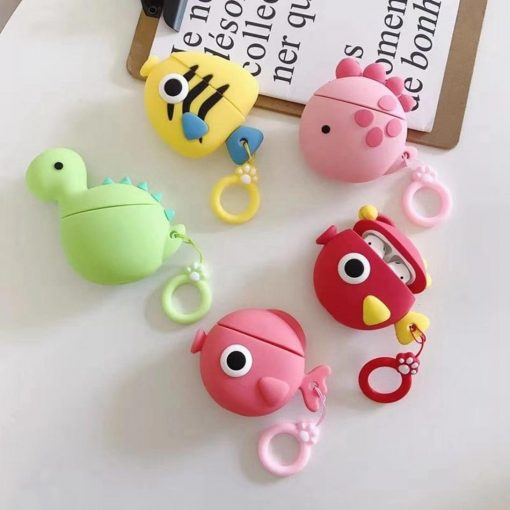 Pink Fishy Premium AirPods Case Shock Proof Cover