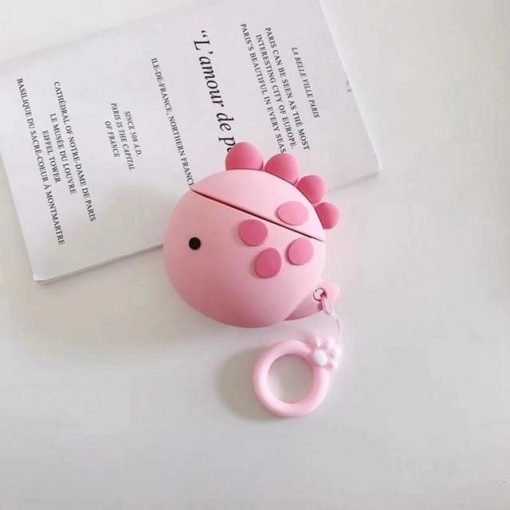 Pink Dino Premium AirPods Case Shock Proof Cover