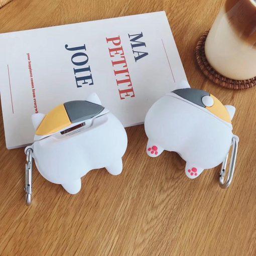 Cute Grey and Blonde Corgi Dog Butt Premium AirPods Case Shock Proof Cover