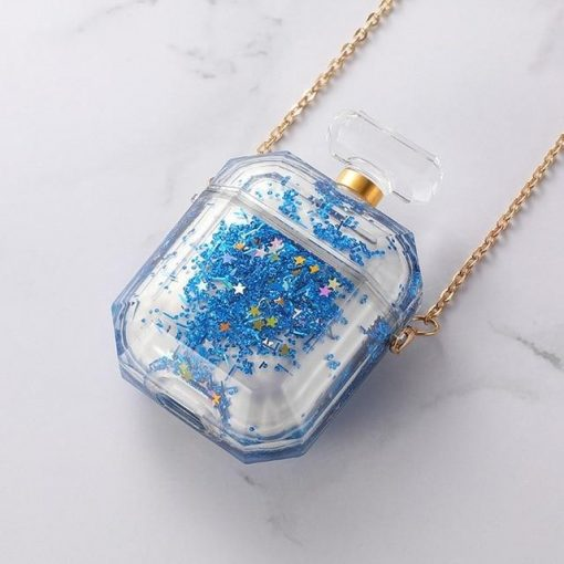 Clear Acrylic Snow Globe with Glitter AirPods Case Shock Proof Cover