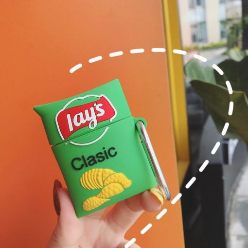 Potato Chips 'Lays Sour Cream and Onion' Premium AirPods Case Shock Proof Cover