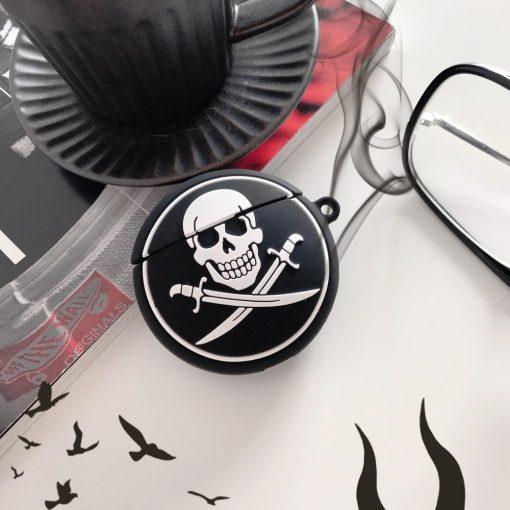 Pirate Skull Logo Premium AirPods Case Shock Proof Cover
