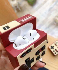 Retro Nintendo Controller Premium AirPods Case Shock Proof Cover