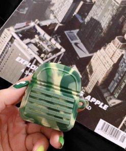 PUBG Green Camo Premium AirPods Case Shock Proof Cover