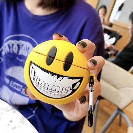 Smile Emoji Skull Premium AirPods Case Shock Proof Cover