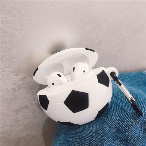 Soccer Ball Premium AirPods Case Shock Proof Cover