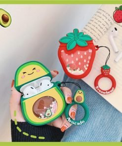 Strawberry 'Snow Globe Belly' Premium AirPods Case Shock Proof Cover