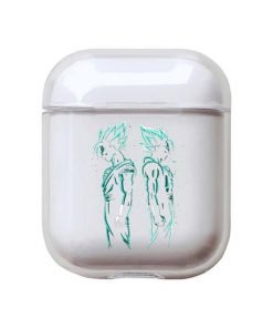 Dragon Ball Z | DBZ 'Vegeta Silhouette' Clear Acrylic AirPods Case Shock Proof Cover