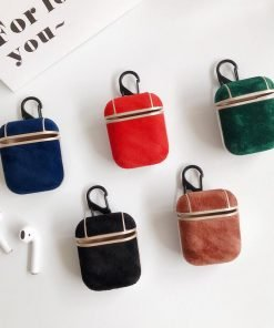 Luxury Suede AirPods Case Shock Proof Cover