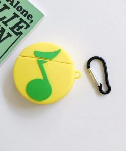 Musical Green Quarter Note Premium AirPods Case Shock Proof Cover